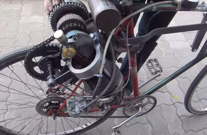 selbstgebauter Motorradmotor